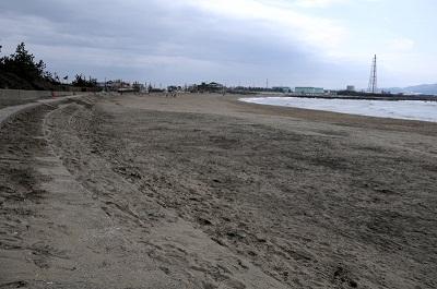 海岸清掃後